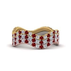Stackable Eternity Ruby Rings