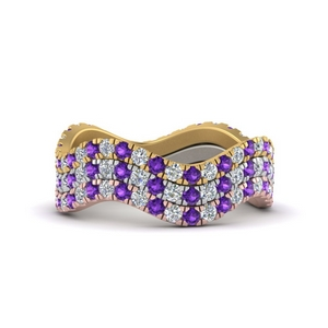 Purple Topaz Stacking Ring Set
