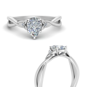 White Gold Teardrop Engagement Ring
