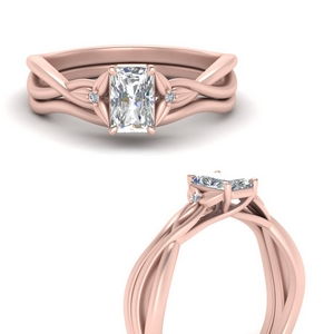 Radiant Cut Diamond Wedding Sets