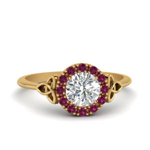 Pink Sapphire Celtic Ring