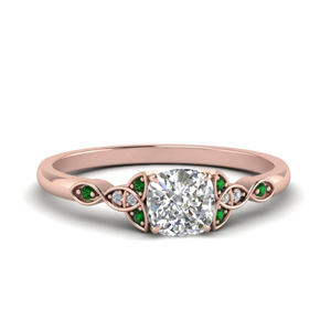 Vintage Engagement Ring With Emerald