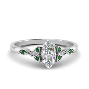 Platinum Irish Emerald Ring