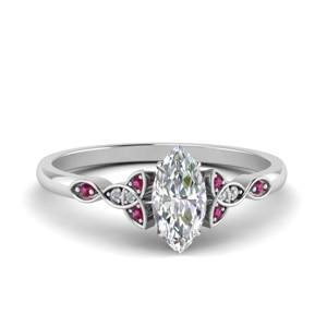 celtic-knot-marquise-cut-diamond-engagement-ring-with-pink-sapphire-in-FD124181MQRGSADRPI-NL-WG