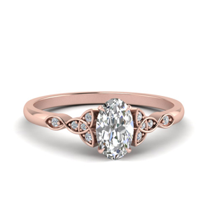 Moissanite Oval Shaped Vintage Rings