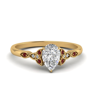 Ruby Celtic Knot Ring Gold