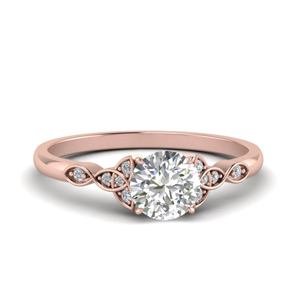 Love Knot Round Diamond Ring