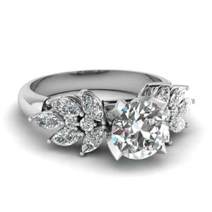 2 Karat Petal Diamond Ring