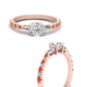 round-cut-french-pave-baguette-accented-engagement-ring-with-orange-topaz-in-FDENR1801RORGPOTOANGLE3-NL-RG