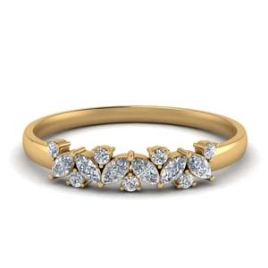 Marquise Band With Round Diamond
