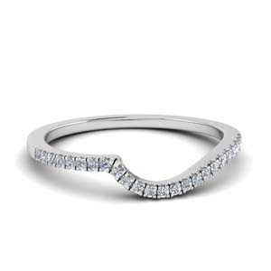 Diamond Contour Delicate Band