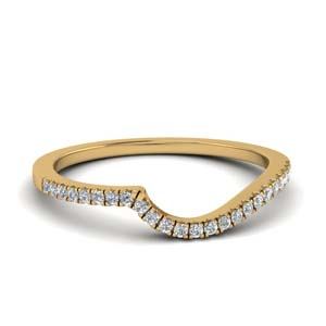 Swirl Diamond Contour Band