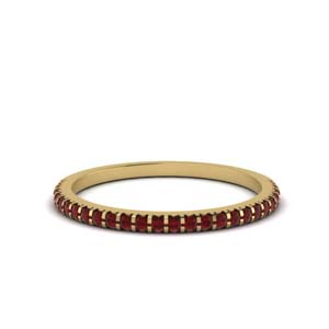 Delicate Band With Ruby