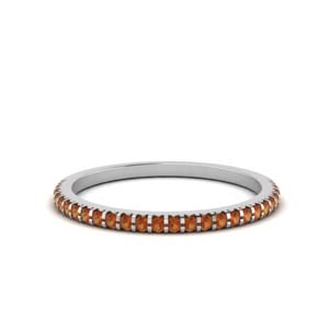 Thin Orange Sapphire Band