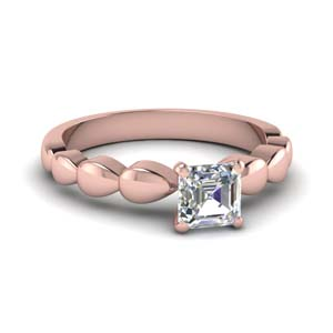 Drain Drop Asscher Solitaire Ring