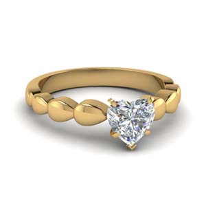 Heart Diamond One Stone Ring