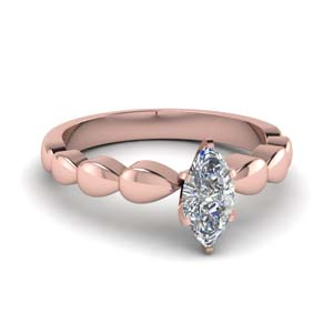 18K Rose Gold Marquise Ring