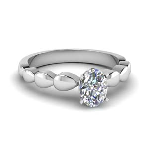 White Gold Oval Cut Solitaire Ring