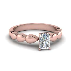Single Diamond Ring Radiant Cut