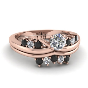 Black Diamond Ring Set