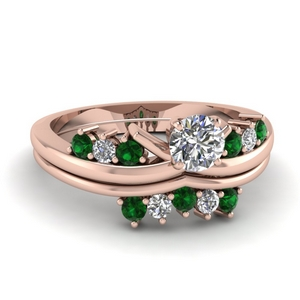 Modern Emerald Wedding Set