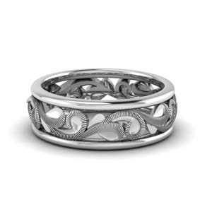 Filigree Eternity Wedding Band