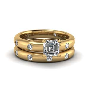 Flush Set Diamond Wedding Set