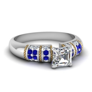 Sapphire Vintage Engagement Rings