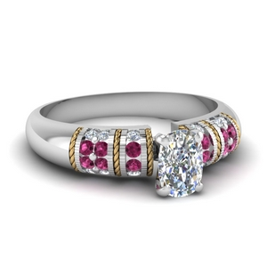 Pink Sapphire 18K White Gold Ring