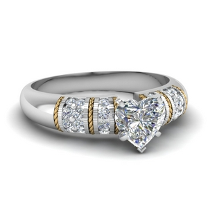 Antique 2 Tone Diamond Ring