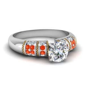 Round Diamond Double Tone Ring