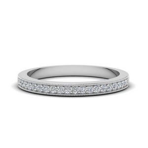 Thin Milgrain Pave Band