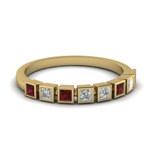 Womens Wedding Band With Ruby
