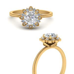 Flower Inspired Engagement Rings