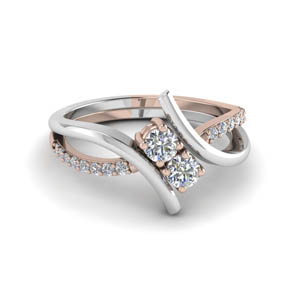 Two Tone Diamond Rings