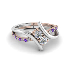 Two Tone Purple Topaz Ring