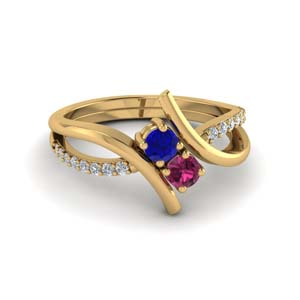Crossover 2 Sapphire And Diamond Ring