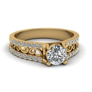 Filigree Vintage Diamond Ring