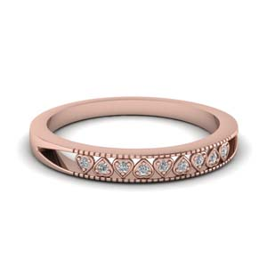 Heart Design Band With Diamond