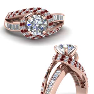 Ruby Channel Set Engagement Ring