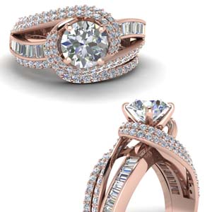 Diamond Twisted Wedding Set