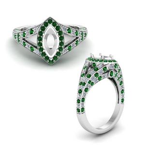 Halo Emerald Ring Setting