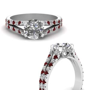 Ruby French Pave Ring