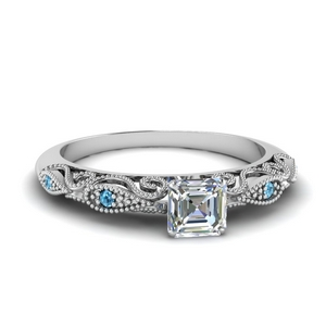 paisley asscher diamond engagement ring with blue topaz in FD69805ASRGICBLTO NL WG.jpg