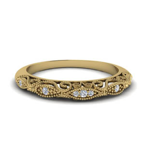 Paisley Diamond Wedding Band