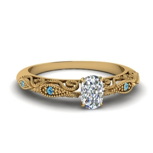 paisley cushion diamond engagement ring with blue topaz in FD69805CURGICBLTO NL YG.jpg