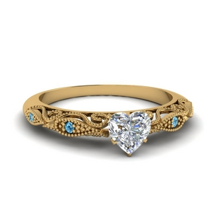 paisley heart diamond engagement ring with blue topaz in FD69805HTRGICBLTO NL YG.jpg