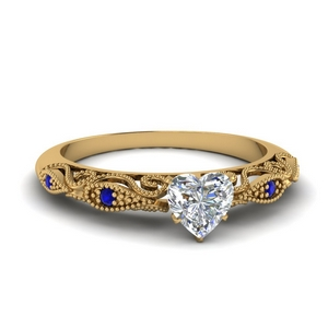 paisley heart diamond engagement ring with sapphire in FD69805HTRGSABL NL YG.jpg