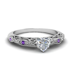paisley heart diamond engagement ring with purple topaz in FD69805HTRGVITO NL WG.jpg
