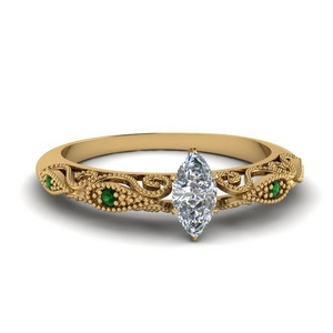 Antique Diamond Yellow Gold Ring